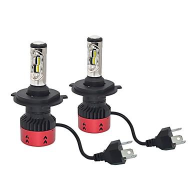 رخيصةأون المصابيح الأمامية للسيارات-70W 9600lm CSP 1919 ارتفاع منخفض شعاع أدى المصباح عدة h4 فائقة خفة بيضاء