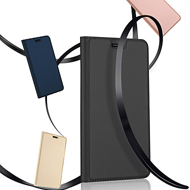 Недорогие Чехлы и кейсы для Galaxy S-Кейс для Назначение SSamsung Galaxy S9 / S9 Plus / S8 Plus со стендом / Флип / Магнитный Чехол Однотонный Твердый Кожа PU