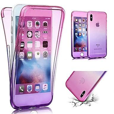 voordelige iPhone-hoesjes-hoesje Voor Apple iPhone X / iPhone 8 Plus / iPhone 8 Ultradun Volledig hoesje Kleurgradatie Zacht TPU