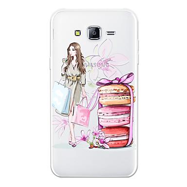 رخيصةأون حافظات / جرابات هواتف جالكسي J-غطاء من أجل Samsung Galaxy J7 (2017) / J7 (2016) / J7 نموذج غطاء خلفي امرآة مثيرة / كارتون ناعم TPU