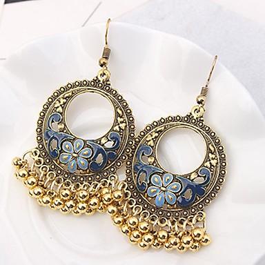 povoljno Naušnice-Žene Viseće naušnice Chandelier dame Vintage Moda Naušnice Jewelry Crn / Obala / Crvena Za Party Kauzalni