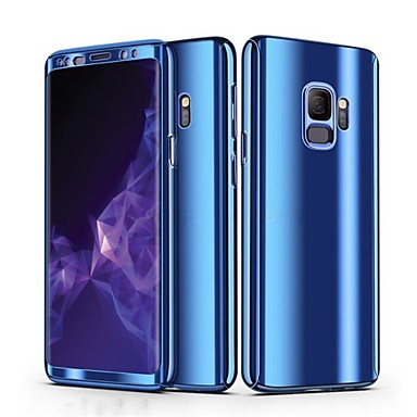 Недорогие Чехлы и кейсы для Galaxy S-Кейс для Назначение SSamsung Galaxy S9 / S9 Plus / S8 Plus Покрытие Чехол Однотонный Твердый ПК