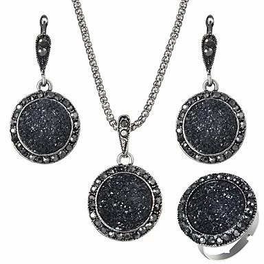 رخيصةأون أطقم المجوهرات-مجموعة مجوهرات سيدات أوروبي راتينج الأقراط مجوهرات أسود من أجل مناسب للبس اليومي