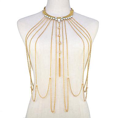 olcso Testékszerek-Női Testékszer 45 cm Deréklánc / Csípőig érő nyaklánc Arany hölgyek / Bikini / Divat Ötvözet Jelmez ékszerek Kompatibilitás Alkalmi / Bikini Nyár