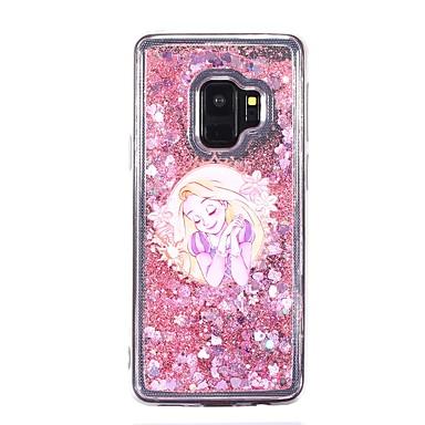 Недорогие Чехлы и кейсы для Galaxy S-Кейс для Назначение SSamsung Galaxy S9 / S9 Plus / S8 Plus Движущаяся жидкость Кейс на заднюю панель Соблазнительная девушка Мягкий ТПУ