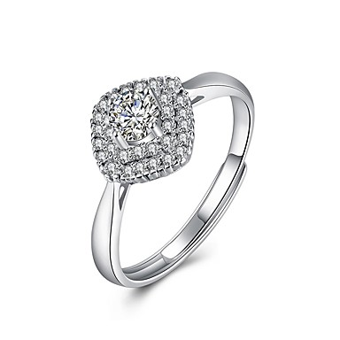 087fe4c62e28 Γυναικεία Διαμάντι Cubic Zirconia Δέσε Ring S925 Sterling Silver κυρίες  Μοντέρνα Μοδάτο Δαχτυλίδι Κοσμήματα Ασημί Για Πάρτι Καθημερινά Ρυθμιζόμενο  6616644 ...