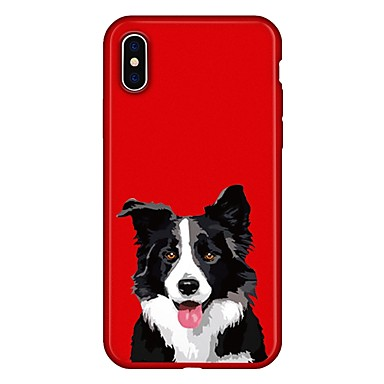 voordelige iPhone X hoesjes-hoesje Voor Apple iPhone X / iPhone 8 Plus / iPhone 8 Patroon Achterkant Hond / dier / Cartoon Zacht TPU