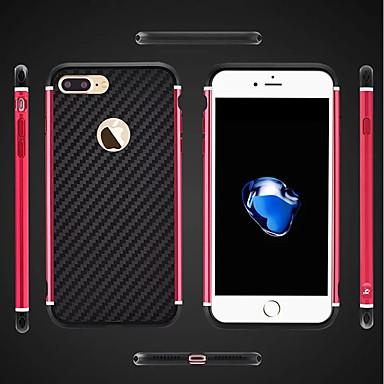 voordelige iPhone 6 hoesjes-hoesje Voor Apple iPhone 8 Plus / iPhone 8 / iPhone 7 Plus Schokbestendig / Beplating / Schild Achterkant Schild Hard Metaal