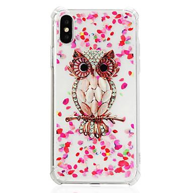 voordelige iPhone 6 Plus hoesjes-hoesje Voor Apple iPhone X / iPhone 8 Plus / iPhone 8 Schokbestendig / Transparant / Patroon Achterkant dier / Uil Zacht TPU