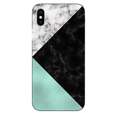 voordelige iPhone 7 hoesjes-hoesje Voor Apple iPhone X / iPhone 8 Plus / iPhone 8 Transparant / Patroon Achterkant Marmer Zacht TPU