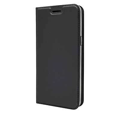 Недорогие Чехлы и кейсы для Galaxy J-Кейс для Назначение SSamsung Galaxy J2 Prime Бумажник для карт / со стендом / Флип Чехол Однотонный Твердый Кожа PU