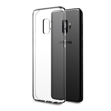 غطاء من أجل Samsung Galaxy S9 / S9 Plus / S8 Plus نحيف جداً / الجسم شفافة غطاء خلفي لون سادة ناعم TPU