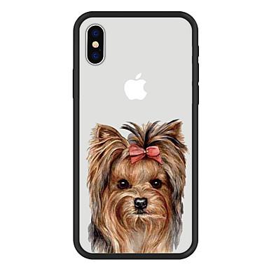 voordelige iPhone 6 hoesjes-hoesje Voor Apple iPhone X / iPhone 8 Plus / iPhone 8 Patroon Achterkant Hond / dier / Cartoon Hard Acryl