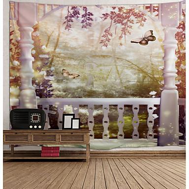 levne Výzdoba stěn-Architektura Wall Decor Polyester Vintage Wall Art, Nástěnné tapiserie Dekorace