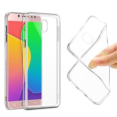 غطاء من أجل Samsung Galaxy J7 (2017) / J7 (2016) / J7 نحيف جداً / الجسم شفافة غطاء خلفي لون سادة ناعم TPU