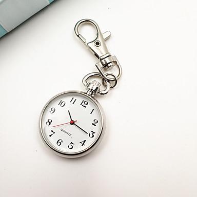 نسائي المفاتيح ووتش مقياس الجيب مشاهدة ممرضة كوارتز فضة ساعة كاجوال مماثل سيدات عتيق موضة الحد الأدنى - فضي سنة واحدة عمر البطارية / Tianqiu 377