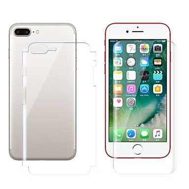 voordelige iPhone screenprotectors-AppleScreen ProtectoriPhone 8 Plus High-Definition (HD) Voorkant- & achterkantbescherming 2 pcts TPU Hydrogel