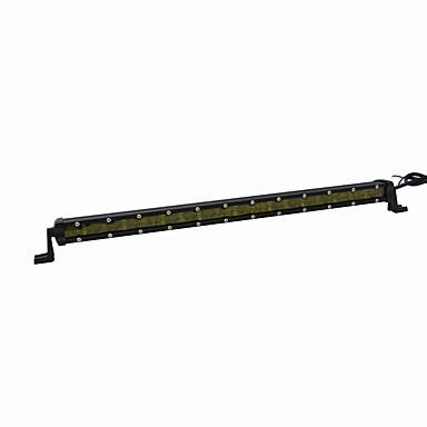 ieftine Becuri De Mașină LED-super-subțire 6d lentilă 54w 3780lm de înaltă performanță a condus oval de iluminat model un singur rând a condus lumina bar