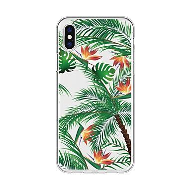 voordelige iPhone-hoesjes-hoesje Voor Apple iPhone X / iPhone 8 Plus / iPhone 8 Patroon Achterkant Planten / Boom Zacht TPU