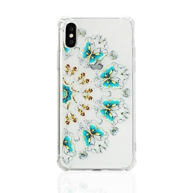 voordelige iPhone-hoesjes-hoesje Voor Apple iPhone X / iPhone 8 Plus / iPhone 8 Schokbestendig / Patroon Achterkant Bloem Zacht TPU