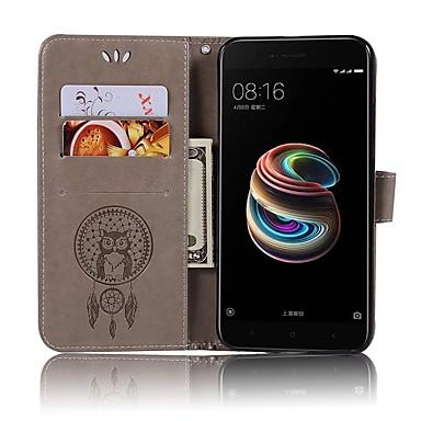 Недорогие Чехлы и кейсы для Xiaomi-Кейс для Назначение Xiaomi Xiaomi Mi 6 / Xiaomi Mi 5X / Xiaomi Mi 5s Кошелек / Бумажник для карт / Флип Чехол Сова Твердый Кожа PU