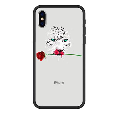 voordelige iPhone 6 hoesjes-hoesje Voor Apple iPhone X / iPhone 8 Plus / iPhone 8 Patroon Achterkant dier / Bloem Hard Acryl