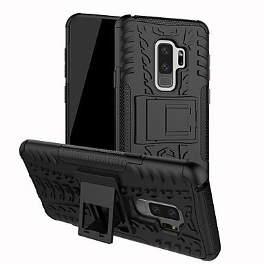 Недорогие Чехлы и кейсы для Galaxy А-Кейс для Назначение SSamsung Galaxy A5(2018) / Galaxy A7(2018) / A3 (2017) Защита от удара / со стендом / броня Кейс на заднюю панель Плитка / броня Твердый ПК