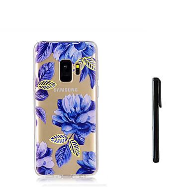 Недорогие Чехлы и кейсы для Galaxy S-Кейс для Назначение SSamsung Galaxy S9 / S9 Plus / S8 Plus Полупрозрачный Кейс на заднюю панель Цветы Мягкий ТПУ