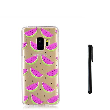 Недорогие Чехлы и кейсы для Galaxy S-Кейс для Назначение SSamsung Galaxy S9 / S9 Plus / S8 Plus Полупрозрачный Кейс на заднюю панель Фрукты Мягкий ТПУ