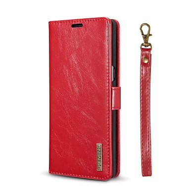 voordelige Galaxy Note-serie hoesjes / covers-hoesje Voor Samsung Galaxy Note 8 Portemonnee / Kaarthouder / met standaard Volledig hoesje Effen Hard aitoa nahkaa