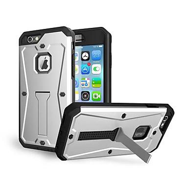 Недорогие Кейсы для iPhone 6 Plus-Кейс для Назначение Apple iPhone 8 Pluss / iPhone 8 / iPhone 7 Plus Защита от удара / со стендом Кейс на заднюю панель броня Твердый Силикон
