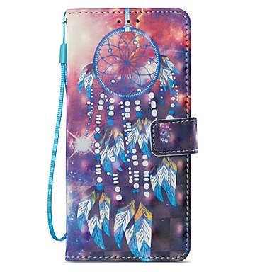 voordelige Galaxy S-serie hoesjes / covers-hoesje Voor Samsung Galaxy S9 / S9 Plus / S8 Plus Kaarthouder / met standaard / Flip Volledig hoesje Dromenvanger Hard PU-nahka
