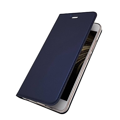 غطاء من أجل Huawei P10 Plus / P10 Lite / P10 حامل البطاقات / مع حامل / قلب غطاء كامل للجسم لون سادة قاسي جلد PU