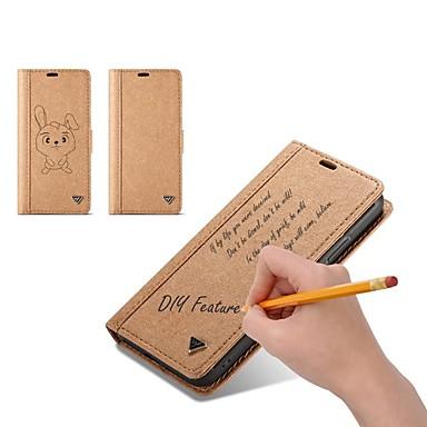 Недорогие Кейсы для iPhone 7 Plus-Кейс для Назначение Apple iPhone X / iPhone 8 Pluss / iPhone 8 Кошелек / Бумажник для карт / Флип Чехол Однотонный Твердый Кожа PU / Своими руками