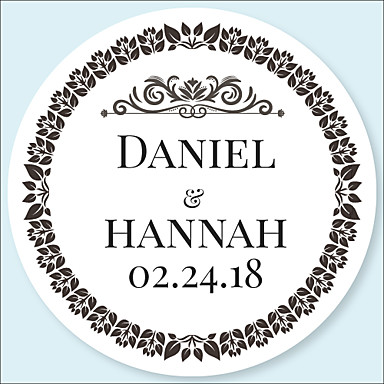 cheap Customized Prints and Gifts-Floral / Botanicals Stickers, Labels & Tags - 48pcs Circular Stickers Envelope Sticker All Seasons