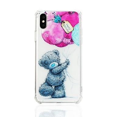 voordelige iPhone-hoesjes-hoesje Voor Apple iPhone X / iPhone 8 Plus / iPhone 8 Schokbestendig / Patroon Achterkant dier Zacht TPU