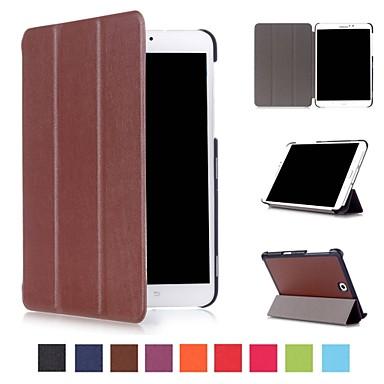 billiga Samsung Tablets Fodral-fodral Till Samsung Galaxy Tab S2 8.0 / Tab E 8.0 / Tab A 8.0 (2017) med stativ / Origami / Magnet Fodral Enfärgad Hårt PU läder