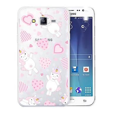 voordelige Galaxy J-serie hoesjes / covers-hoesje Voor Samsung Galaxy J7 (2017) / J7 (2016) / J7 Patroon Achterkant Hart / Eenhoorn / Cartoon Zacht TPU