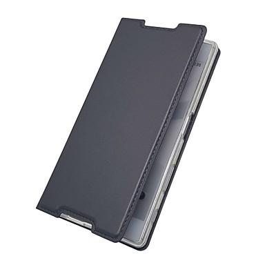 رخيصةأون Sony أغطية / كفرات-غطاء من أجل Sony Sony Xperia Z5 / Z5 Mini / Xperia XZ1 Compact حامل البطاقات / مع حامل / قلب غطاء كامل للجسم لون سادة قاسي جلد PU