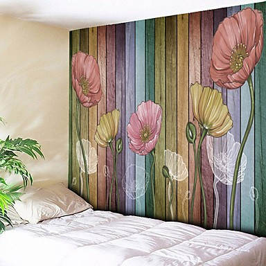 olcso Fali dekor-Építészet Fali dísz Poliészter Vintage Wall Art, Fali gobelinek Dekoráció