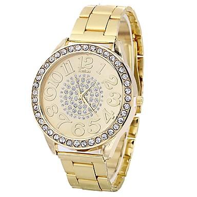 472b5593f035 Mujer Reloj de Moda Cuarzo Plata   Dorado   Oro Rosa Esfera Grande  Analógico damas Casual Moda - Dorado Plata Oro Rosa Un año Vida de la  Batería 6619979 ...