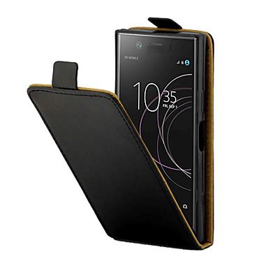 Недорогие Чехлы и кейсы для Sony-Кейс для Назначение Sony Xperia XZ1 Compact Бумажник для карт Чехол Однотонный Твердый Кожа PU