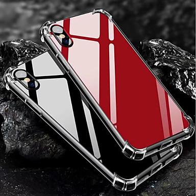 Недорогие Кейсы для iPhone 6 Plus-Кейс для Назначение Apple iPhone X / iPhone 8 Pluss / iPhone 8 Защита от удара / Зеркальная поверхность Кейс на заднюю панель Однотонный Мягкий ТПУ