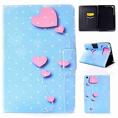 رخيصةأون أغطية أيباد-غطاء من أجل Apple iPad Air / iPad 4/3/2 / iPad Mini 3/2/1 قلب غطاء كامل للجسم قلب قاسي جلد PU