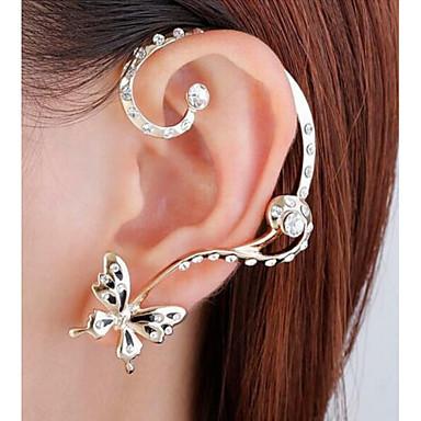olcso Fülgyűrűk-Beszúrós fülbevalók Fül Mandzsetta Fül hegymászók Nem egyező Pillangó Egyszerű Divat Fülbevaló Ékszerek Arany Kompatibilitás Esküvő Party / estély