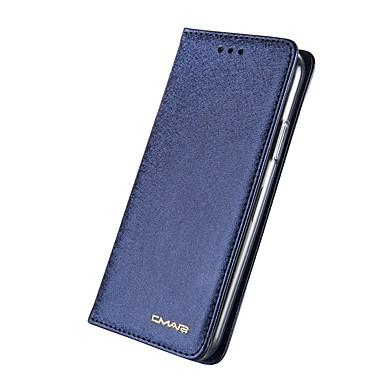 Недорогие Кейсы для iPhone 6-Кейс для Назначение Apple iPhone X / iPhone 8 Pluss / iPhone 8 Кошелек / Бумажник для карт / Флип Чехол Однотонный Твердый Настоящая кожа