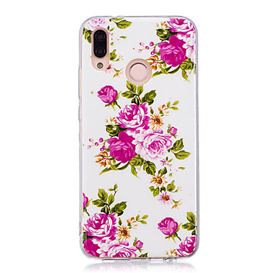 [€6.29] Custodia Per Huawei Huawei P20 / Huawei P20 Pro / Huawei P20 lite Fosforescente / IMD / Fantasia / disegno Per retro Fiore decorativo / ...