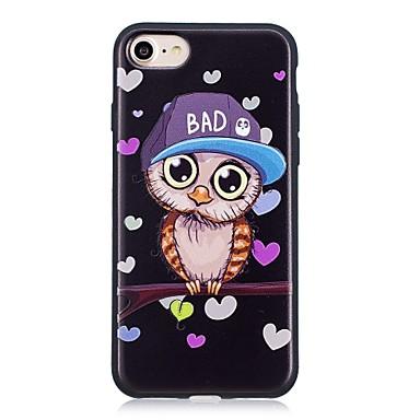 voordelige iPhone 6 Plus hoesjes-hoesje Voor Apple iPhone X / iPhone 8 Plus / iPhone 8 Patroon Achterkant dier / Uil Zacht TPU