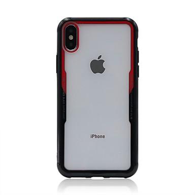 Недорогие Кейсы для iPhone 7 Plus-Кейс для Назначение Apple iPhone X / iPhone 8 Pluss / iPhone 8 Прозрачный Кейс на заднюю панель Однотонный Твердый Акрил