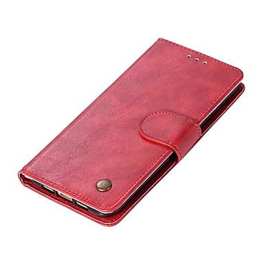 Недорогие Чехлы и кейсы для Xiaomi-Кейс для Назначение Xiaomi Xiaomi Mi 6 / Xiaomi Mi 5X / Xiaomi Mi 5s Кошелек / Бумажник для карт / Флип Чехол Однотонный Твердый Кожа PU